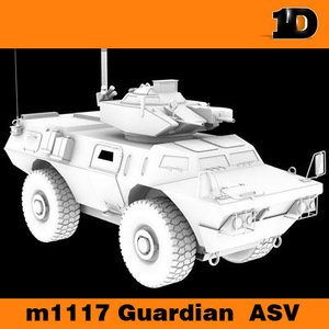3d model m1117 guardian asv