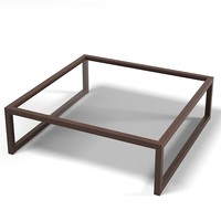modern contemporary square wenge gass coffe table
