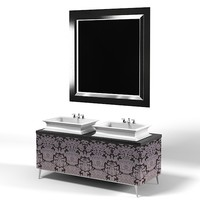 oasis modern art deco luxury bathroom furniture contemporary vanity 2 two lavatory sink mirror