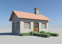 3d little house model