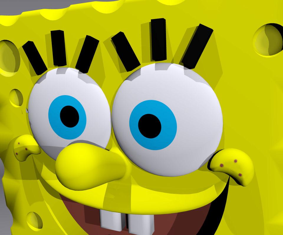 spongebob squarepants 3d max