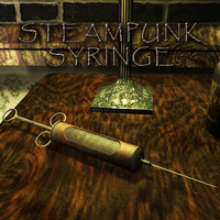 antique syringe lod set 3d model