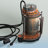 3d sump pump - submersible