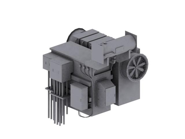 tx substation 3d model