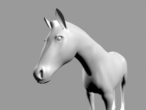 horse object file obj