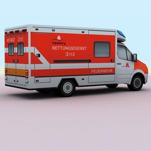 2011 mercedes german ambulance games 3d model