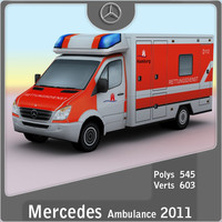 2011 mercedes german ambulance games 3d model