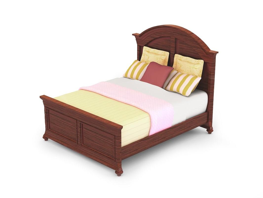 bed materials v-ray 3d model