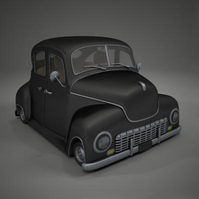 classic car toon 3d model