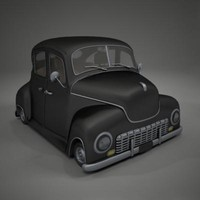 classic car toon 3d model