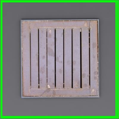 modeled sewer grate 3d model
