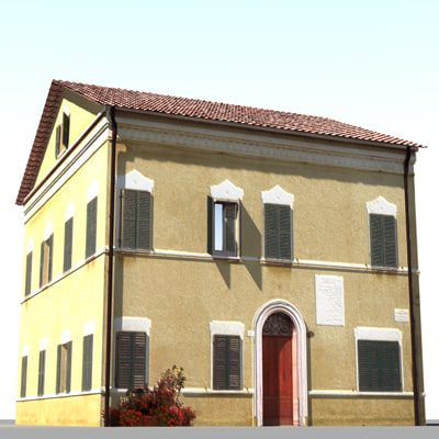 tuscan house c4d
