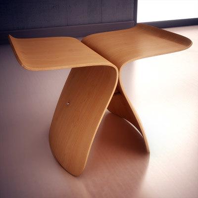 3d model vitra butterfly stool