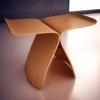 3d model vitra butterfly stool