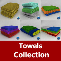 3d model towels 01