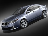 3d honda accord sedan car model