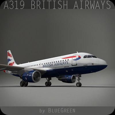 3d a319 british airways