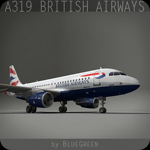 3d a319 british airways