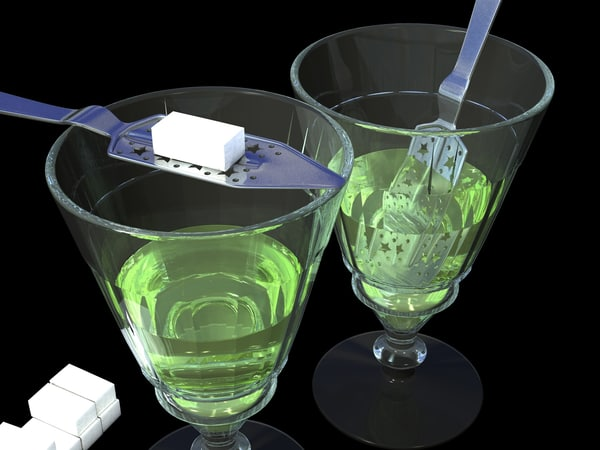3ds absinthe glass spoon