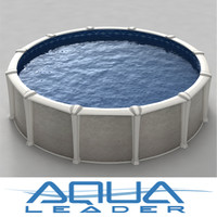 3d ground pool model