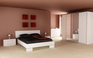 bedroom interior 02a 3d model