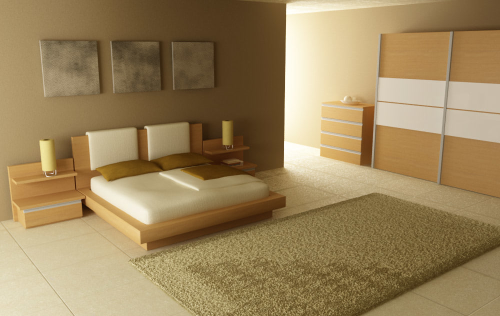 Bedroom interior 03b 3d max for Interior modeling in 3ds max