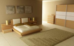 bedroom interior 03b 3d max