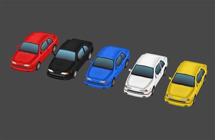 3d model hand painted car