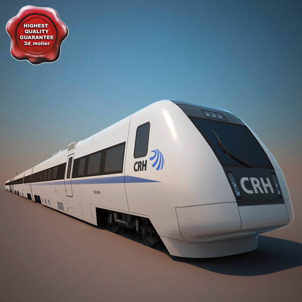 chinese high-speed train crh 3d model