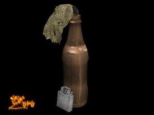 molotov cocktail bomb 3d 3ds
