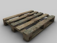 Detailed Europool pallet  Wood