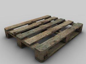 europool pallet aged wood 3d model