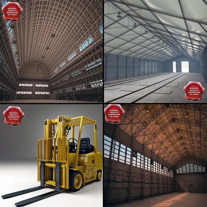 hangars v3 3d model