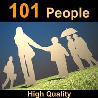 People 101 Human Silhouets