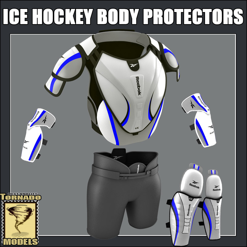 3d model of ice hockey body protector