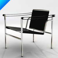 cassina lc1 sling chair 3d model