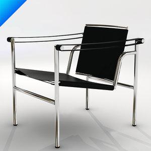 cassina lc1 sling chair 3d model