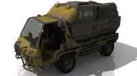 3d model mule cargo truck