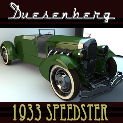 3d classic car duesenberg 1933