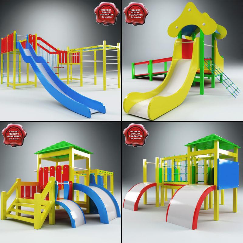 3d model of playgrounds v1