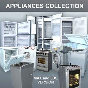 appliances freezer fridge 3d model