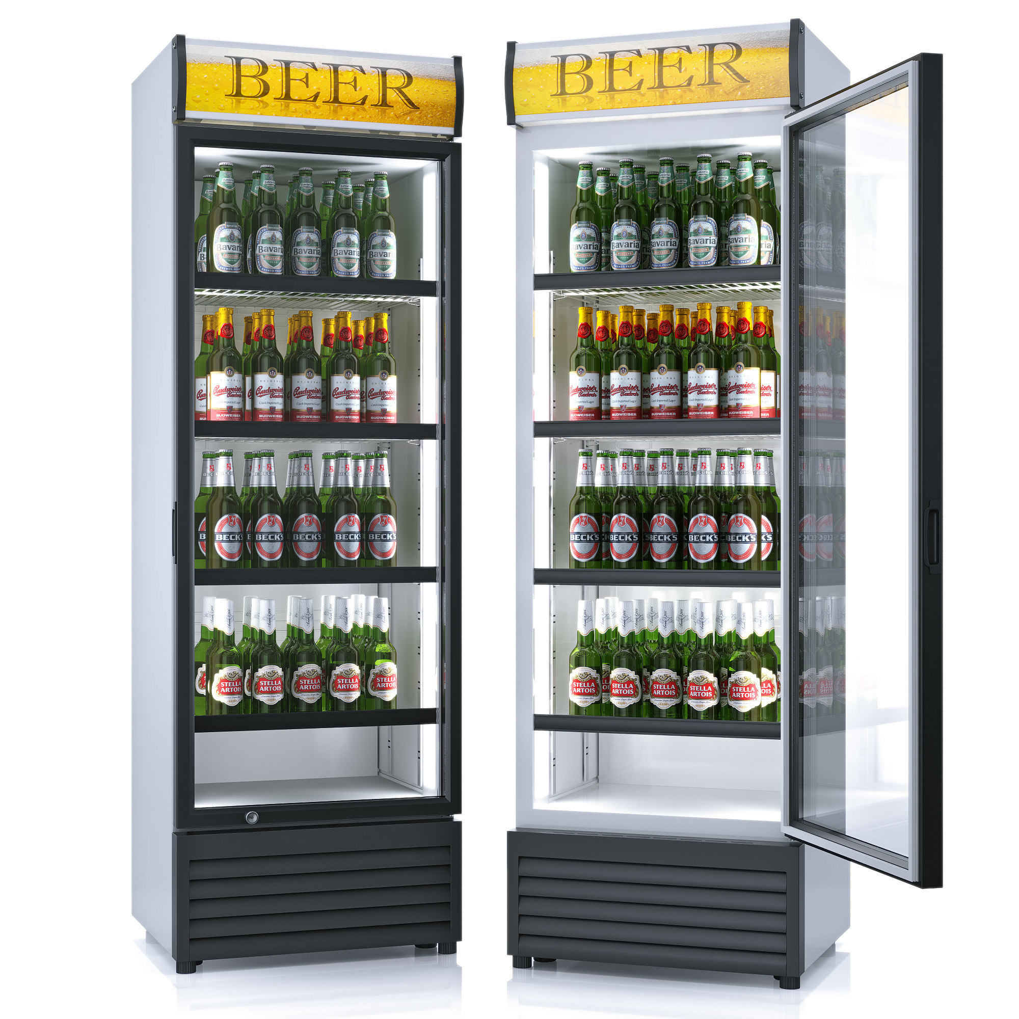 refrigerator beer 3d model