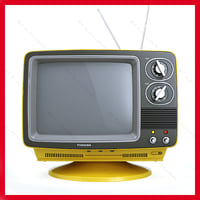 Retro Portable TV TOSHIBA Blackstripe