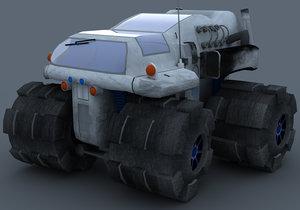 snow mobile obj