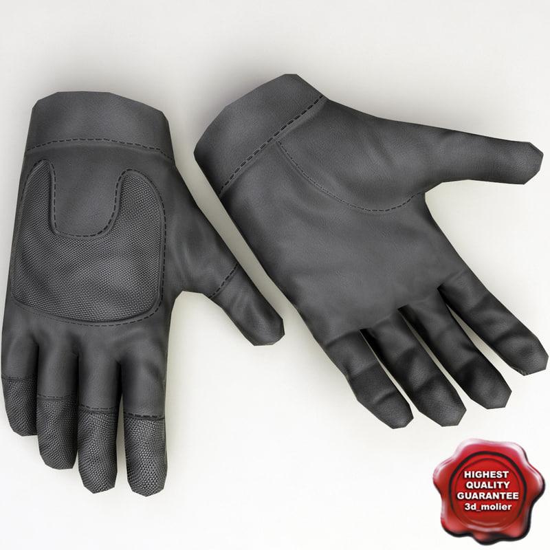 soldier gloves 3d model