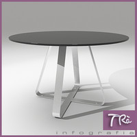 maya kitchen table steel