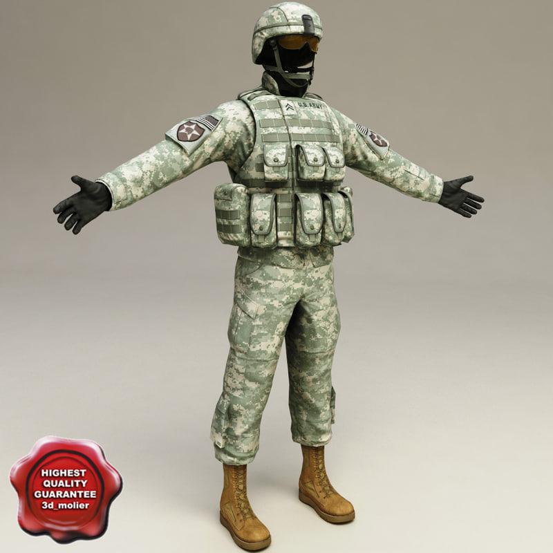 3d model soldier clothes v2