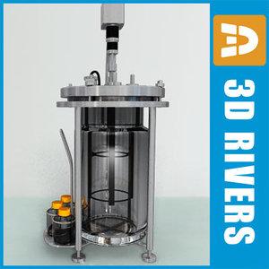 3d model of lab bioreactor laboratories