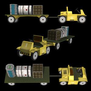 3d model cargo transporter sci-fi