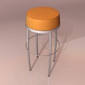 3d 3ds bar stool